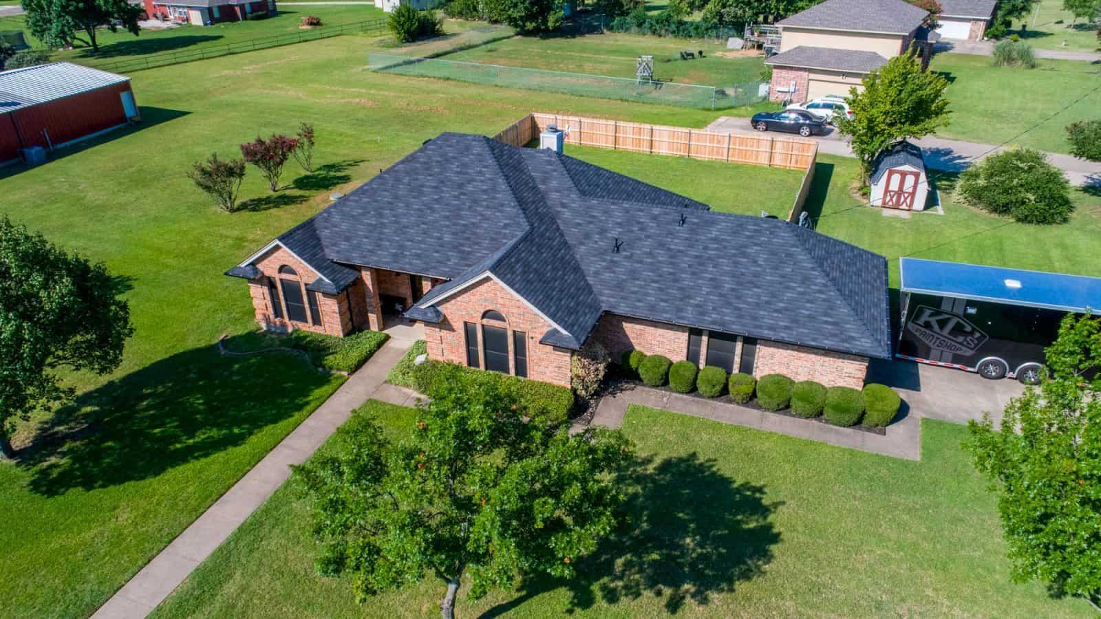 aerial photo of a Texas home